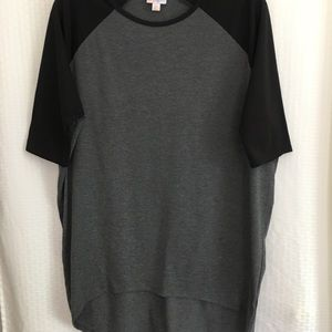 LuLaRoe Tops - LulaRoe Irma Tunic Top Hi Lo Hem Fitted Sleeve XS
